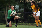 20 September 2009: Duke's Tara Campbell (left) and LSU's Catherine Luparello (5). The Duke University Blue Devils played the Louisiana State University Tigers to a 2-2 tie after overtime at Koskinen Stadium in Durham, North Carolina in an NCAA Division I Women's college soccer game.