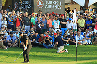 Kurt Kitayama (USA) during the final round of the Turkish Airlines Open, Montgomerie Maxx Royal Golf Club, Belek, Turkey. 10/11/2019<br /> Picture: Golffile | Phil INGLIS<br /> <br /> <br /> All photo usage must carry mandatory copyright credit (© Golffile | Phil INGLIS)