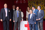 10.10.2012. Princess Letizia of Spain attends ´Cruz Roja´ (Red Cross) Fundraising Day in the Ministry of Foreign Affairs and Cooperation, Madrid, Spain. In the image Princess Letizia and Spanish Actor Pepe Carabias (Alterphotos/Marta Gonzalez)