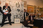 The Cartoon Dinner. Martin Rowson presents Ralph Steadman who sings a song and gets The Lifetime Achievement Award. Black tie formal charity dinner London 2007  The Mall Galleries London  2000s.