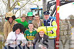 CHARACTERS: Great characters who marched in the Abbeydorney St Patricks Day Parade on Wednesday. Front l-r: Tim Fealy, Brian Leen and John Maunsell. Back l-r: Charlie Nolan, Nigel Roche, Kevin Nolan, Douglas Roche and Michael Leen.................................................................. ........