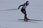 Ilaria Denertolis competes during the 5 Km Individual Free race of Tour de ski as part of the FIS Cross Country Ski World Cup  in Dobbiaco, Toblach, on January 8, 2016. American Jessica Diggins wins the race, ahead of Norway's Heidi Weng and third place for actual leader Ingvild Flugstad Oestberg from Norway. Credit: Pierre Teyssot