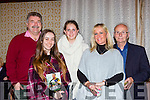 Sean Healy, Kim Healy Listowel, Megan Burke Dublin, Ann Marie Healy and Tony Purcell Listowel at the launch of Tomas O'Sé  autobiography The White Heat in the Brehon Hotel on Sunday night