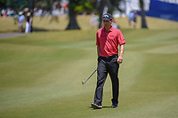 Kevin Kisner (USA) approaches the green on 1 during Round 4 of the Zurich Classic of New Orl, TPC Louisiana, Avondale, Louisiana, USA. 4/29/2018.<br /> Picture: Golffile | Ken Murray<br /> <br /> <br /> All photo usage must carry mandatory copyright credit (&copy; Golffile | Ken Murray)