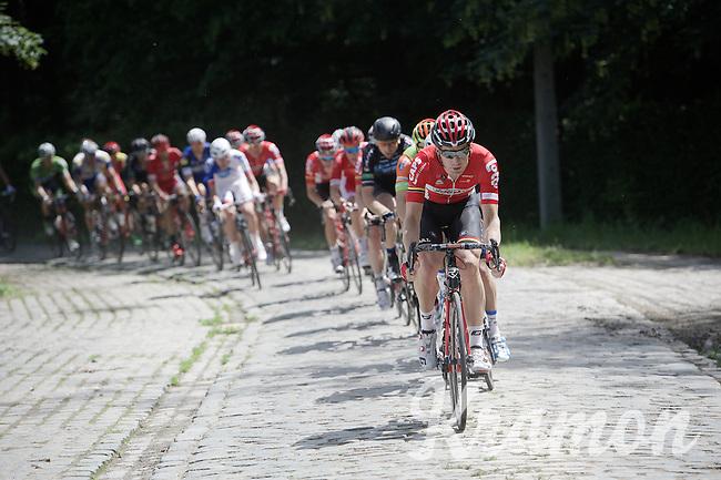 Jurgen Roelandts (BEL/Lotto-Soudal) leading the way over the cobbles<br /> <br /> 69th Halle-Ingooigem 2016 (200km)