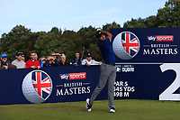 Julian Suri (USA) on the 2nd tee during Round 3 of the Sky Sports British Masters at Walton Heath Golf Club in Tadworth, Surrey, England on Saturday 13th Oct 2018.<br /> Picture:  Thos Caffrey | Golffile