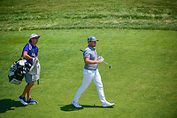 Tyrell Hatton (ENG) approaches the 12th green during Friday's round 2 of the 117th U.S. Open, at Erin Hills, Erin, Wisconsin. 6/16/2017.<br /> Picture: Golffile | Ken Murray<br /> <br /> <br /> All photo usage must carry mandatory copyright credit (&copy; Golffile | Ken Murray)