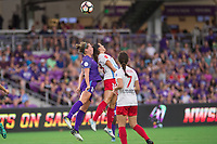Orlando, FL - Saturday August 05, 2017: Maddy Evans, Vanessa DiBernardo, Taylor Comeau during a regular season National Women's Soccer League (NWSL) match between the Orlando Pride and the Chicago Red Stars at Orlando City Stadium.