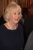 London, Uk. 15/10/2015. The Duchess of Cornwall on behalf of Her Majesty The Queen, Patron of The Royal Commonwealth Society, holds a reception for winners of The Queen's Commonwealth Essay Competition at Buckingham Palace. The Queen's Commonwealth Essay Competition was founded in 1883 and is the world's oldest international schools' writing contest. This year's competition, sponsored by Cambridge University Press, received more than 13,000 entries from over 600 schools in 49 Commonwealth countries and territories. The Duchess of Cornwall hands out awards to young writers who have travelled from across the Commonwealth to attend the reception. This year's winners have come from Cyprus, Botswana, The Cayman Islands and as far away as Tristan da Cunha - over 9000km away.