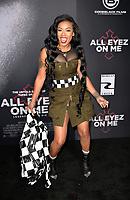 "WESTWOOD, CA - JUNE 14: Keshia Cole at the ""All Eyez On Me"" Los Angeles Premiere at Westwood Village Theaters in Westwood, California on June 14, 2017. Credit: Koi Sojer/Snap'N U Photos/MediaPunch"