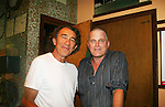 """Fee Waybill (Lead singer and songwriter of The Tubes) poses with Robert Newman - Guiding Light's Robert Newman - a Barn program alum in 1981 - joined in Seasons of Love with """"Something Was Missing"""" (Annie) and """"Meditation"""" (Shenandoah) at the Gala Benefit Concert on August 14, 2010 for the Barn Theatre School for Advanced Theatre Training in Augusta Michigan (Photos by Sue Coflin/Max Photos)"""