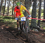 05.09.2015 La Massana Andorra. 201 UCI Mountain Bike World Champions.Picture show Jose Antonio Hermida (ESP) in action during Men ELite Cross-country Olympic World Champions