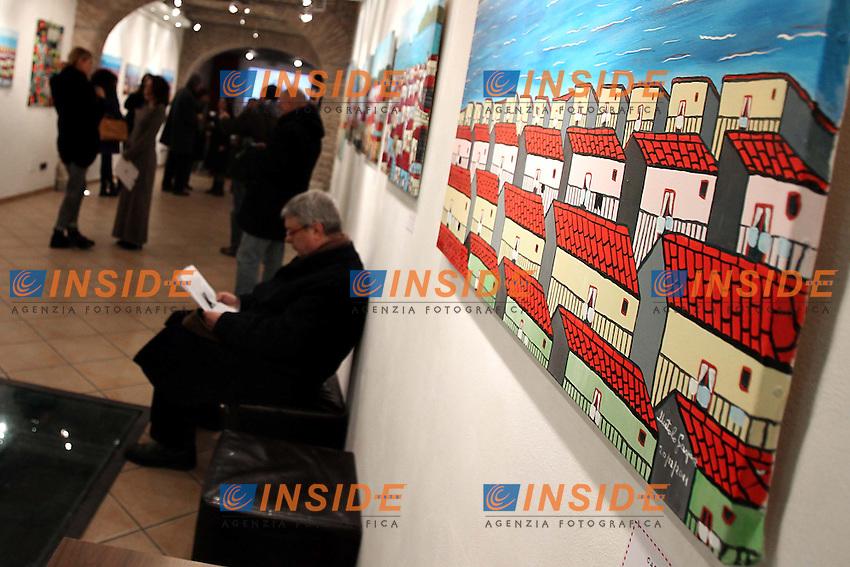 Roma 18/01/2013 Galleria Baccina 66 inaugurazione della mostra 'Gaspare Mutolo - il pittore' .Photo Matteo Ciambelli / Insidefoto