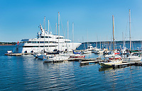Canada Prince Edward Island, P.E.I. Charlottetown harbour with many boats and yachts in water