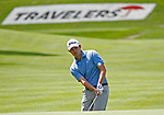 Cromwell, CT-22 JUNE 22 2018-062219MK03 Patrick Cantlay chips on to on the 15th green Saturday morning during the third round of the 2019 Travelers Championship at the TPC River Highlands in Cromwell. Cantlay finished the round five under par with a score of 65. Michael Kabelka / Republican-American