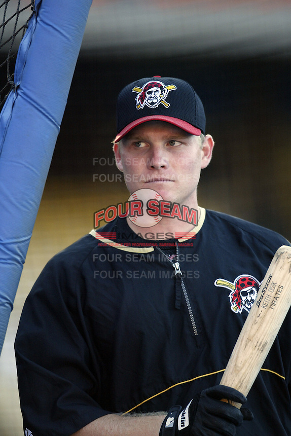 Craig Wilson of the Pittsburgh Pirates before a 2002 MLB season game against the Los Angeles Dodgers at Dodger Stadium, in Los Angeles, California. (Larry Goren/Four Seam Images)