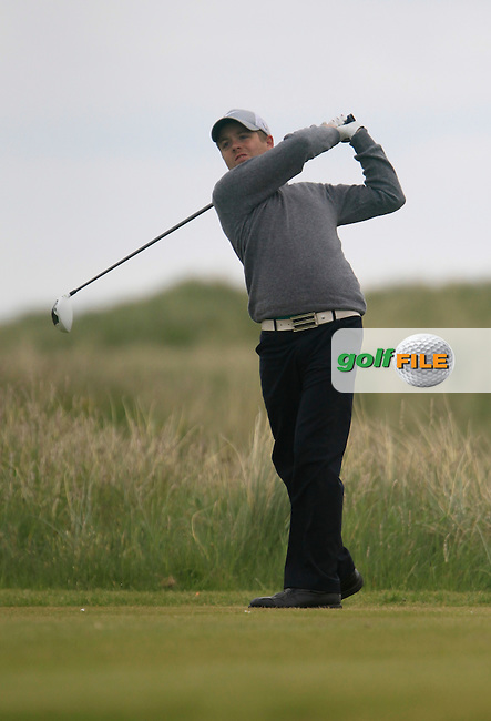 John Greene (Portmarnnock)<br /> during R1 of the East of Ireland Amateur Open championship 2013 at Co Louth Golf club, 1/6/13<br /> Picture:  Thos Caffrey / www.golffile.ie