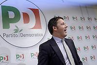 Roma, 9 Dicembre 2013<br />Sede Nazionale del Partito Democratico.<br />Il nuovo segretario del PD  Matteo Renzi incontrala stampa
