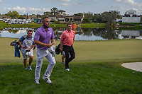 Tyrrell Hatton (ENG) departs 18 during round 4 of the Arnold Palmer Invitational at Bay Hill Golf Club, Bay Hill, Florida. 3/10/2019.<br /> Picture: Golffile | Ken Murray<br /> <br /> <br /> All photo usage must carry mandatory copyright credit (© Golffile | Ken Murray)