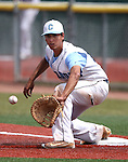 Centennial's Frank Sessa makes a play against Galena during NIAA DI baseball action at Bishop Manogue High School in Reno, Nev., on Thursday, May 19, 2016. Cathleen Allison/Las Vegas Review-Journal