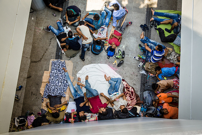 Situation nach der Räumung der Flüchtlinge  am Keleti Bahnhof in Budapest //  Situation at the Keleti Railwaystation in Budapest Hungary 01.09.2015