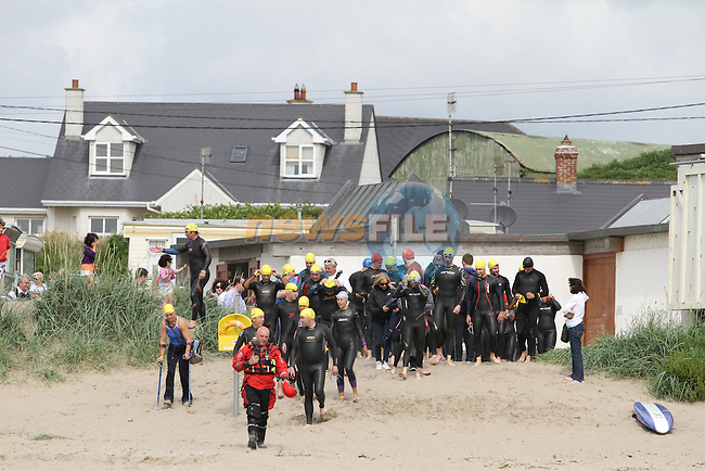 "Clogherhead ""Round the Head Swim""....(Photo credit should read Jenny Matthews/NEWSFILE)..."