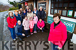 Mary O'Sullivan Postmistress of Glencar Post office and concerned residents who are appealing for AN Post to keep their branch open
