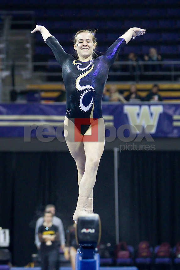 The University of Washington gymnastics team defeated Arizona State University at Alaska Airlines Arena on the campus of the UW in Seattle on March 2, 2012.(Photo by Scott Eklund/Red Box Pictures) Megan Whitney