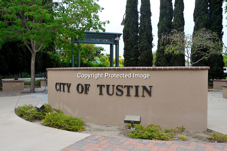 Downtown views of Tustin California