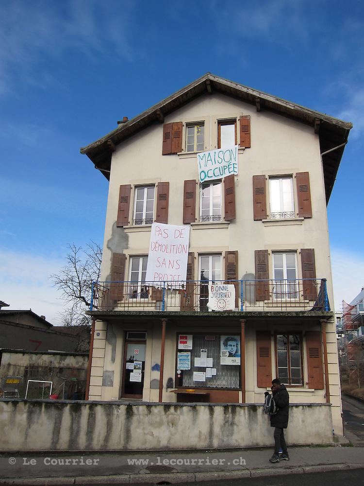 Renens, 04.02.2016<br /> Squat de l'Avenir<br /> &copy; Mario Togni / Le Courrier