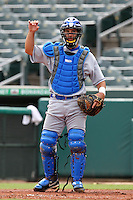 Italy National Team catcher Riccardo Bertagnon #21 during an Instructional League game against the Florida Marlins at Roger Dean Stadium on September 27, 2011 in Jupiter, Florida.  (Mike Janes/Four Seam Images)