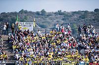 VALENCIA, SPAIN - NOVEMBER 8: Valentino Rossi fan club during Valencia MotoGP 2015 at Ricardo Tormo Circuit on November 8, 2015 in Valencia, Spain
