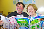 Past pupils and now husband and wife Mossie and Betty O'Connell pictured in Abbeyfeale Vocational School as part of an open evening held last Friday to celebrate its 60th and final year, .