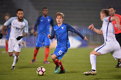 14.11.2016. bondoufle, Paris, France. U-21 International friendly football match, France versus England.  Vincent Koziello (fra)