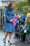 23.01.2018; London, UK: DUCHESS OF CAMBRIDGE VISITS ROE GREEN JUNIOR SCHOOL<br />