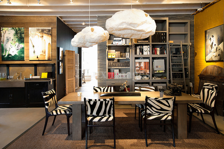 zebra dining chairs