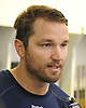 Rick Nash #61 of the New York Rangers speaks with the media during the first day of training camp at MSG Training Center in Greenburgh, NY on Friday, Sept. 23, 2016.