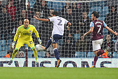 12th September 2017, Villa Park, Birmingham, England; EFL Championship football, Aston Villa versus Middlesbrough; Fábio of Middlesbrough clears the ball out of the Middlesbrough goal area under pressure from Snodgrass
