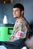 Quad Cities River Bandits starting pitcher Lance McCullers #23 in the dugout during a game against the Wisconsin Timber Rattlers on May 24, 2013 at Modern Woodmen Park in Davenport, Iowa.  Quad Cities defeated Wisconsin 4-3  (Mike Janes/Four Seam Images)