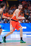 Valencia BC's  Guillem Vives  during ACB match. November 29, 2015. (ALTERPHOTOS/Javier Comos)