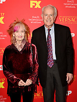 "HOLLYWOOD - JANUARY 8: (L-R) Shelley Fabares and Mike Farrell attend the Red Carpet Premiere Event for FX's ""The Assassination of Gianni Versace: American Crime Story"" at ArcLight Hollywood on January 8, 2018, in Hollywood, California. (Photo by Scott Kirkland/FX/PictureGroup)"