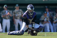 Kentucky Wesleyan Panthers catcher Nolan Ray (7) during a game against Slippery Rock University at Jack Russell Stadium on March 14, 2014 in Clearwater, Florida.  Slippery Rock defeated 18-13.  (Mike Janes/Four Seam Images)