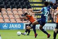 Antonis Vasiliou of Barnet puts in the cross for the opening goal during Barnet vs Wycombe Wanderers, Friendly Match Football at the Hive Stadium on 13th July 2019