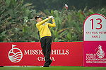 Jung Min Lee of South Korea tees off at 13th hole during Round 3 of the World Ladies Championship 2016 on 12 March 2016 at Mission Hills Olazabal Golf Course in Dongguan, China. Photo by Lucas Schifres / Power Sport Images