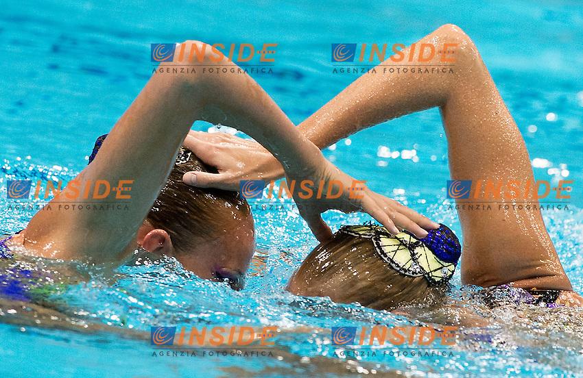 IUSHKO Daria  SYDORENKO Kseniya   Ukraine.Technical Duet.Synchronized Swimming preliminaries.London 2012 Olympics - Olimpiadi Londra 2012.day 10 Aug.5.Photo G.Scala/Deepbluemedia.eu/Insidefoto
