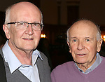 John Doyle and Terrence McNally  from 'The Visit' attend a photo call at The Lyceum Theater on March 24, 2015 in New York City.