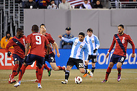 Ever Banega (20) of Argentina. The United States (USA) and Argentina (ARG) played to a 1-1 tie during an international friendly at the New Meadowlands Stadium in East Rutherford, NJ, on March 26, 2011.