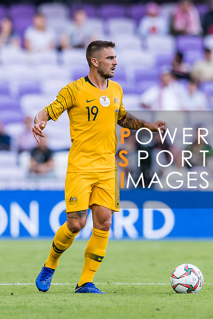 Josh Risdon of Australia reacts during the AFC Asian Cup UAE 2019 Group B match between Australia (AUS) and Jordan (JOR) at Hazza Bin Zayed Stadium on 06 January 2019 in Al Ain, United Arab Emirates. Photo by Marcio Rodrigo Machado / Power Sport Images