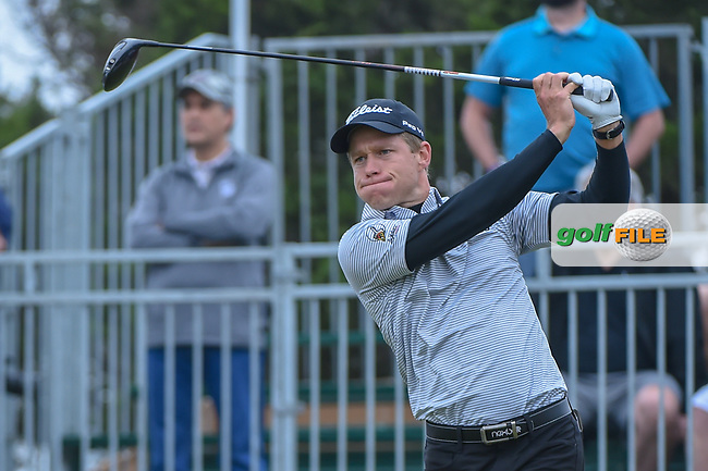 Peter Malnati (USA) watches his tee shot on 10 during Round 3 of the Valero Texas Open, AT&T Oaks Course, TPC San Antonio, San Antonio, Texas, USA. 4/21/2018.<br /> Picture: Golffile | Ken Murray<br /> <br /> <br /> All photo usage must carry mandatory copyright credit (© Golffile | Ken Murray)