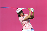 Nasa Hataoka (JPN) tees off the 1st tee during Thursday's Round 1 of The Evian Championship 2018, held at the Evian Resort Golf Club, Evian-les-Bains, France. 13th September 2018.<br /> Picture: Eoin Clarke | Golffile<br /> <br /> <br /> All photos usage must carry mandatory copyright credit (&copy; Golffile | Eoin Clarke)
